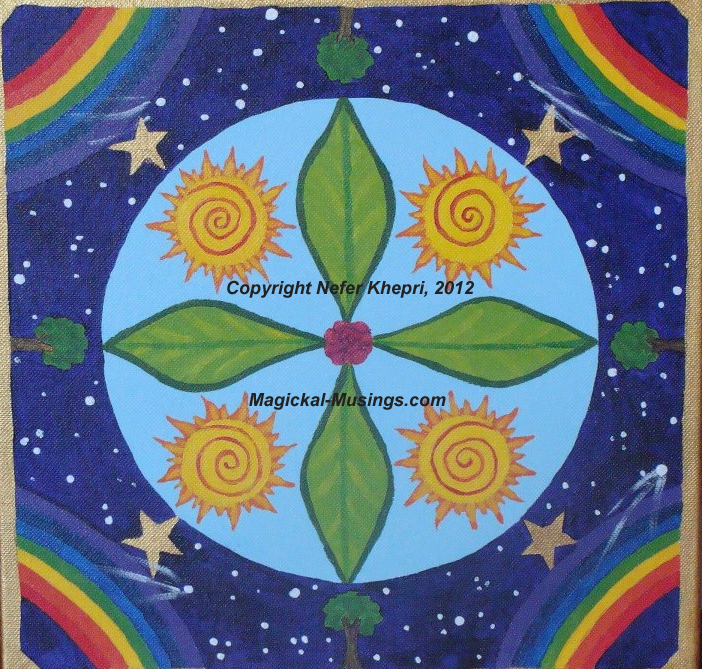 Manifestation Mandala created for Sally, 2011